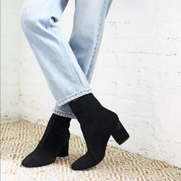 Cecile Velvet Ankle Booties Size